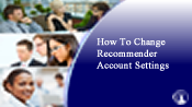 Change Your Recommender Account Settings