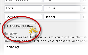 add course row