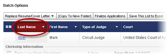 Judge List Last Name