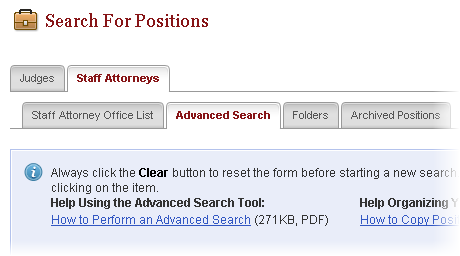 SAO advanced search