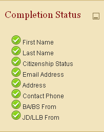 completion status